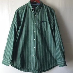 Chaps Easy Care Stripped Long Sleeve Button Down